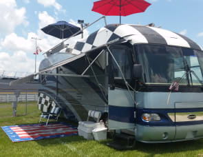 Airstream land yacht,  NASCAR EDITION WITH ROOFTOP PATIO
