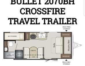Keystone RV Bullet Crossfire 2070BH