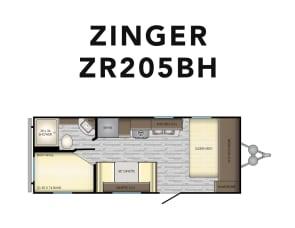 CrossRoads RV Zinger ZR252BH