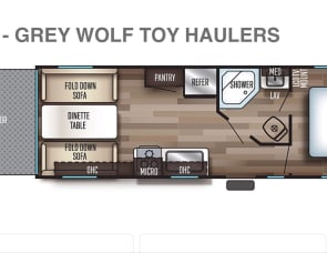 Forest River Greywolf Toy hauler RR22
