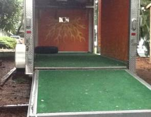 2010 Trailone 6x12 enclosed trailer with ramp rear door