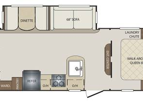 2017 Keystone Bullet 277BHSWE (bunkhouse)