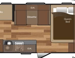 2017 Keystone Hideout 175LHS Bunkhouse with Solar Panel (Unit 1)
