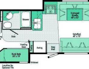2008 Winnebago Vista Bunkhouse 32K