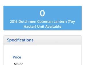 2016 Coleman 300QT