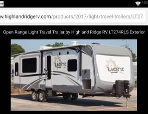 2017 Open Range LT 274rls