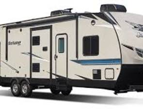 2018 THE ALL NEW 2018 Jayco T30F Octane Kitchen Slide Toy Hauler with 16ft Garage and Patio Party Deck