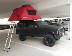1997 Jeep Cherokee with Roof Top Tent