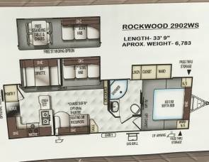 2018 Forest river Rockwood 2902sw