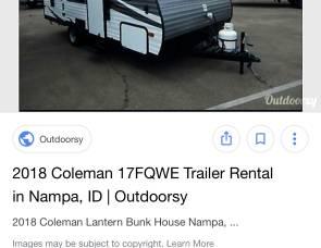 2018 Coleman Lantern 244bh