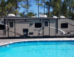 2014 Kodiak 3-Queen Beds TQB 292 Travel Trailer Toy Hauler with 10' Garage (2nd Private Bedroom)