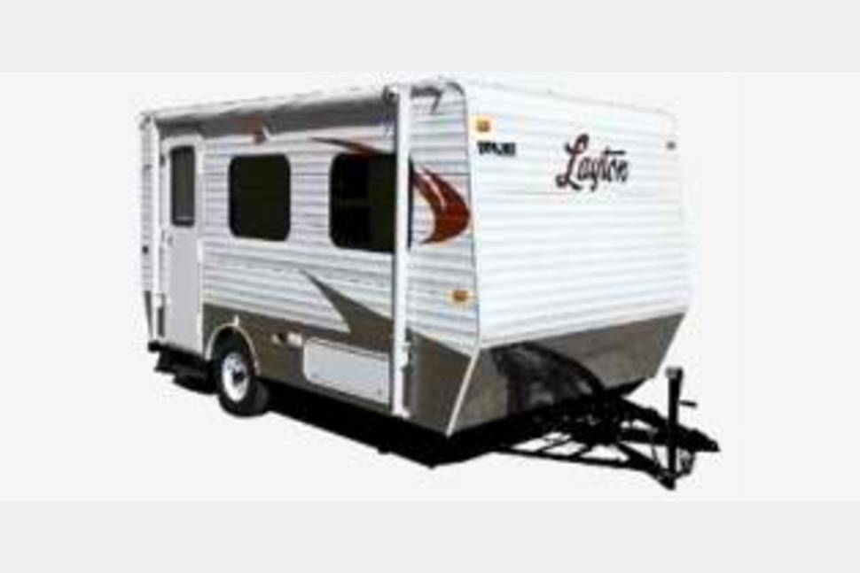 Vintage aljo travel trailer