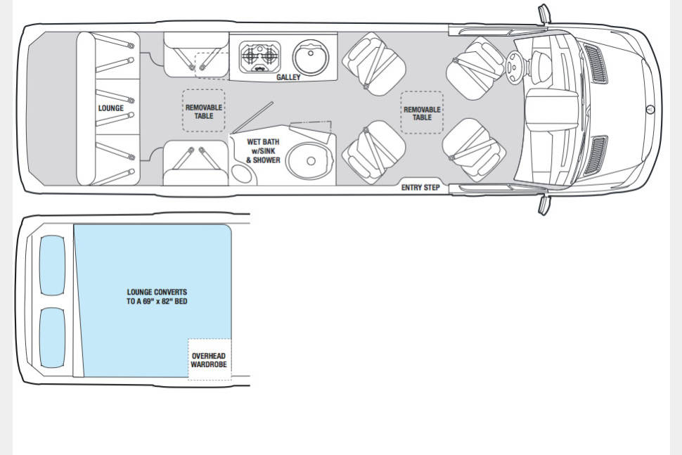 2015 airstream interstate lounge 9 ext rv rental in new for Mercedes benz sprinter rental nyc
