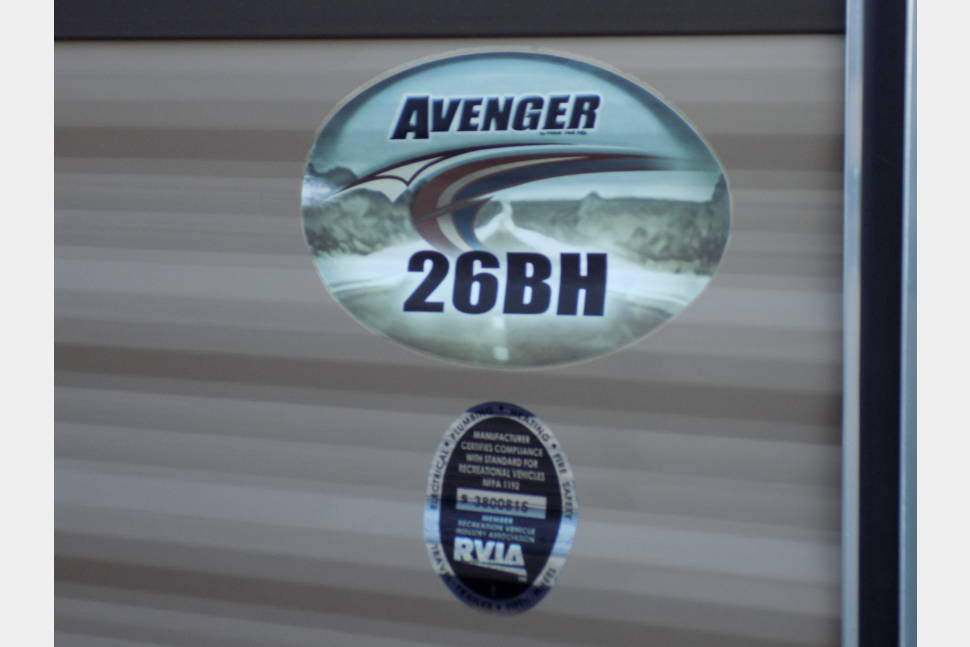 2015 Avenger Travel Trailer - 2015 PRIME TIME AVENGER 26'' BUNK HOUSE TRAVEL TRAILER