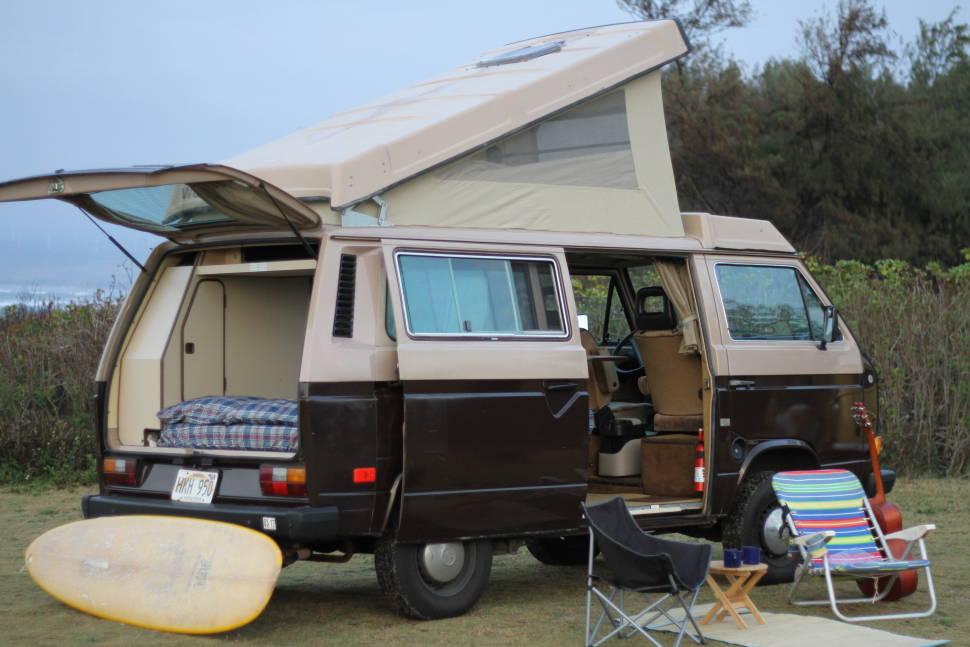 1984 Volkswagen Westfalia - Hawaii Surf Campers - Vintage van - Oahu