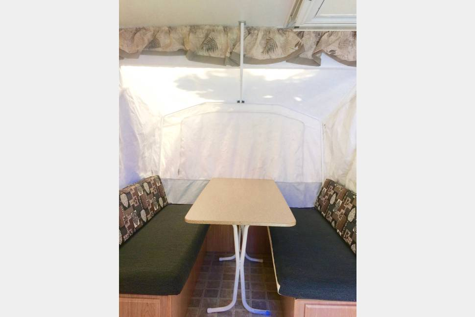 2005 Forest River Rockwood Tent Trailer - Ready for your next family adventure? This is where it begins! Rent 'Rollin Rockford'!!
