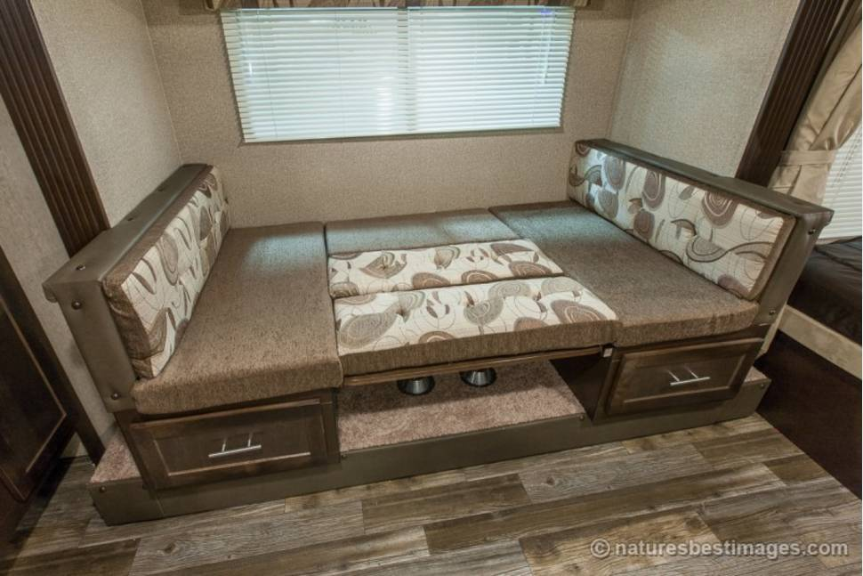 2016 Cherokee Grey Wolf 27RR Toy Hauler - Mid Sized Camper Toy Hauler with large garage, slide-out, outside shower, queen bed, king bed (or 2 twins), dinette that sleeps, interior/exterior speakers and tv mounts.