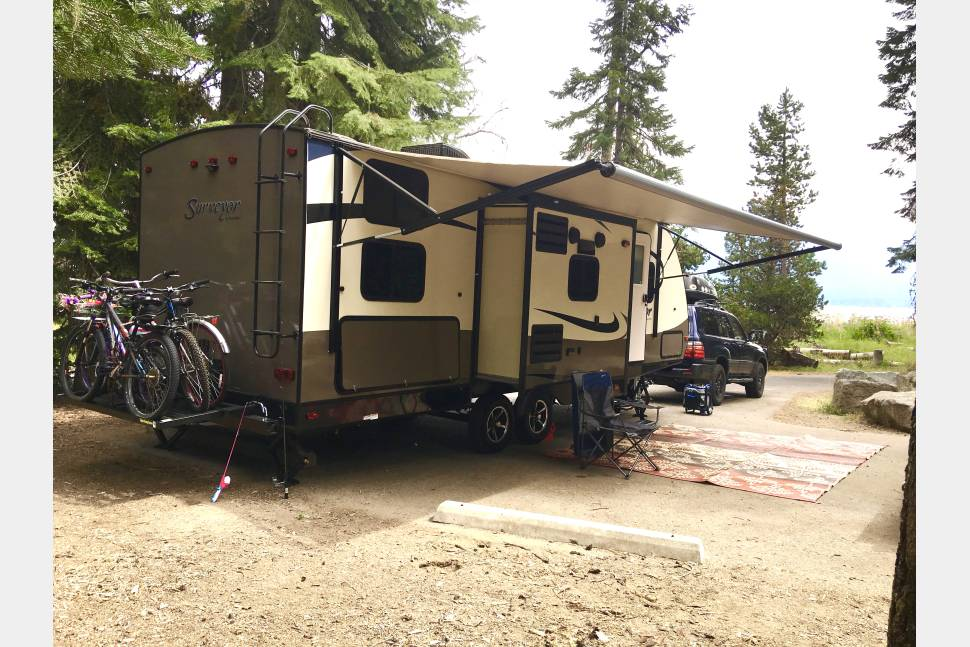 2017 Forest River Surveyor 247BHDS - Ready for some serious Glamping with your family?! Brand NEW Travel Trailer!! Meet Baloo -