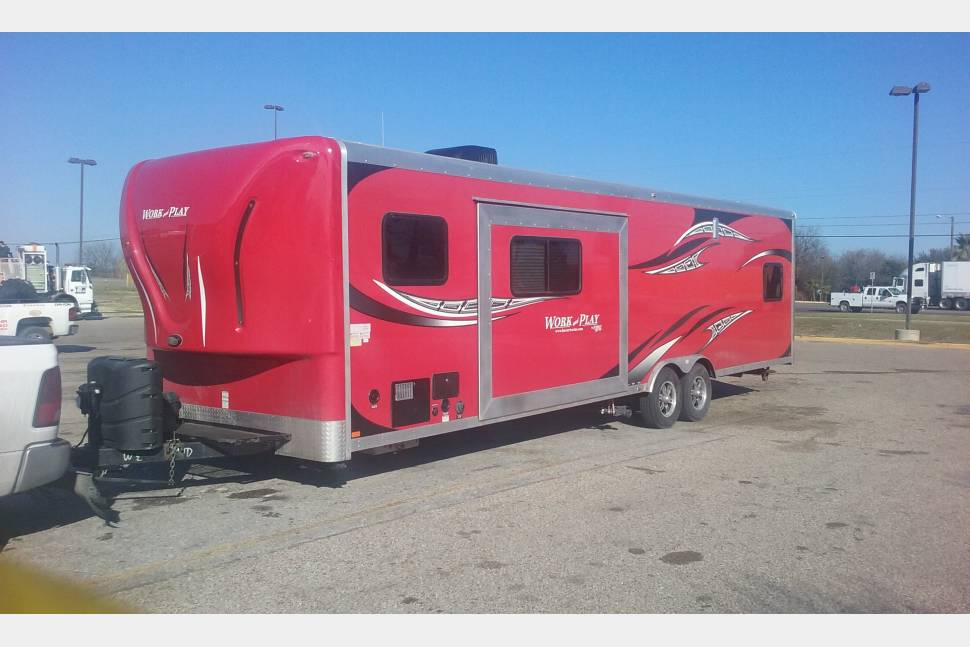 2014 Work And Play Toy Hauler - Toy hauler 10' garage