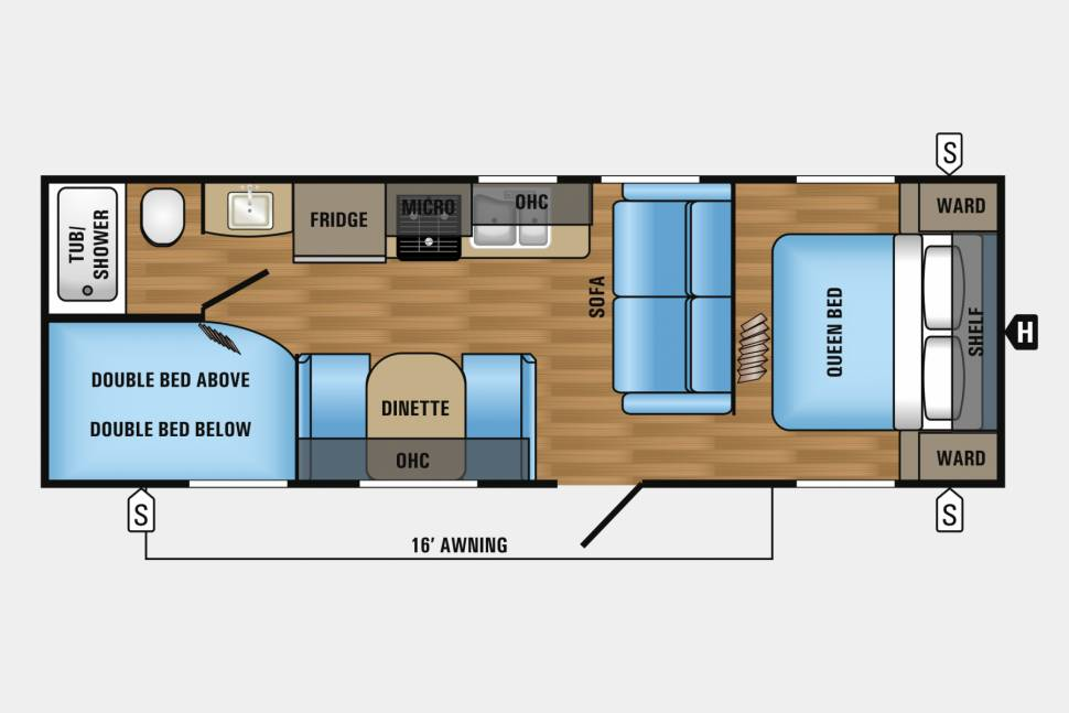 2015 Jayco Jayflight SLX 264BHW - Lightweight, fully stocked with everything you need, delivery available.