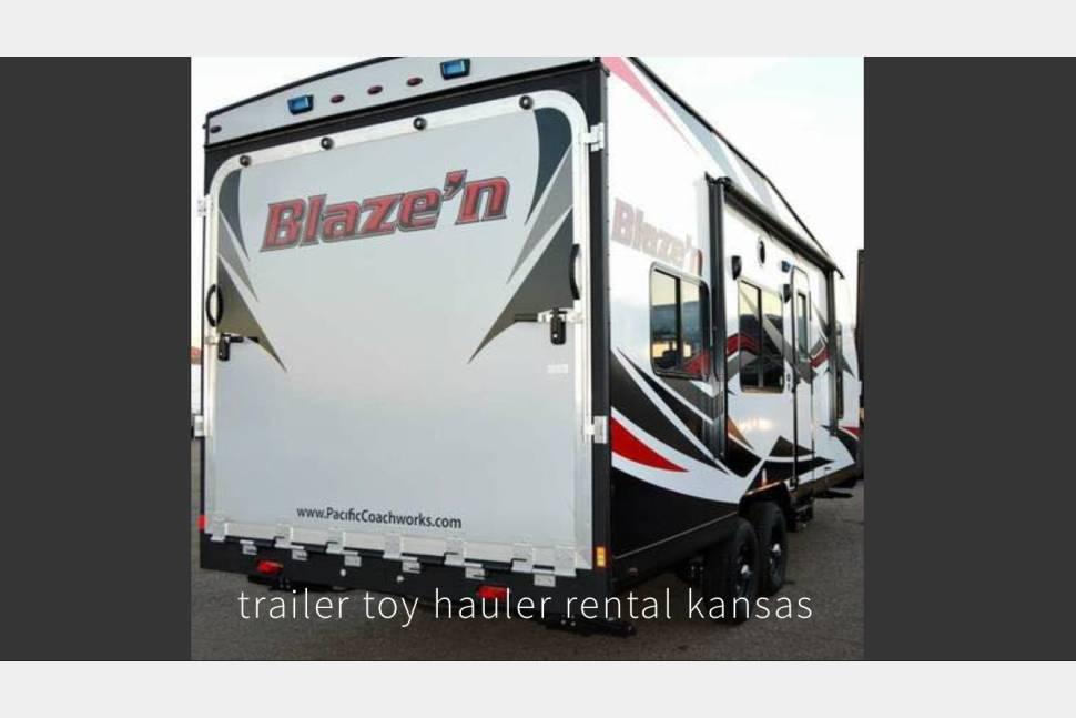 2017 Blaze'n Toy Hauler - Toy hauler from KC TOY RENTALS LLC