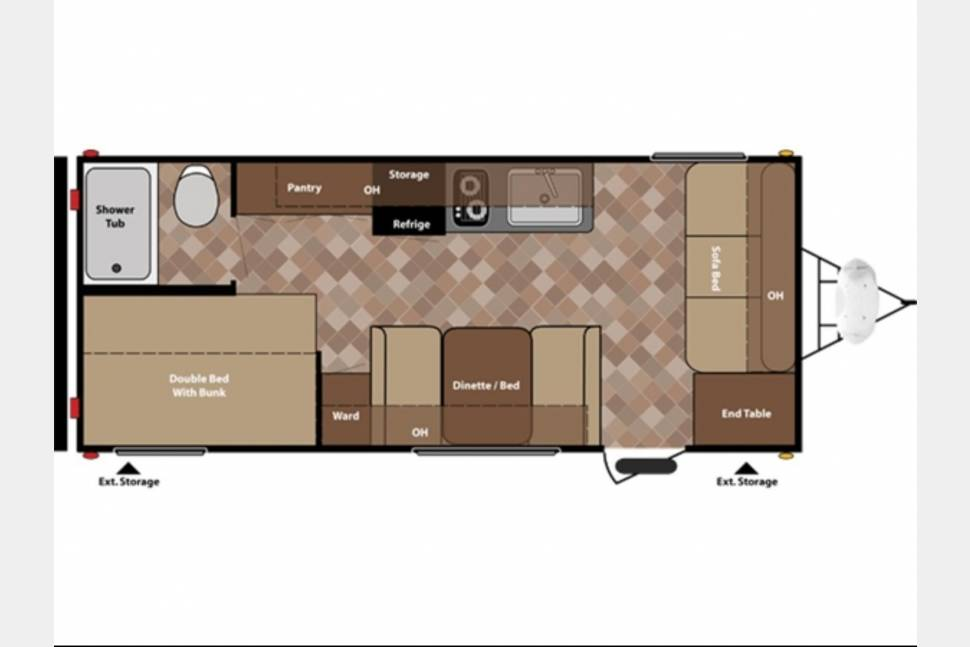 2015 Keystone Fireside 19RBBH - SALE*Now Booking for 2018!!* GOT FUN?? Your Perfect Ultra-Light Bunkhouse Getaway