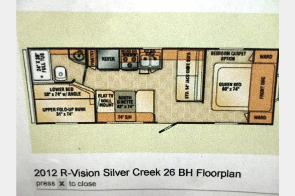 2012 R-VISION 26BH - NICE BUNK HOUSE