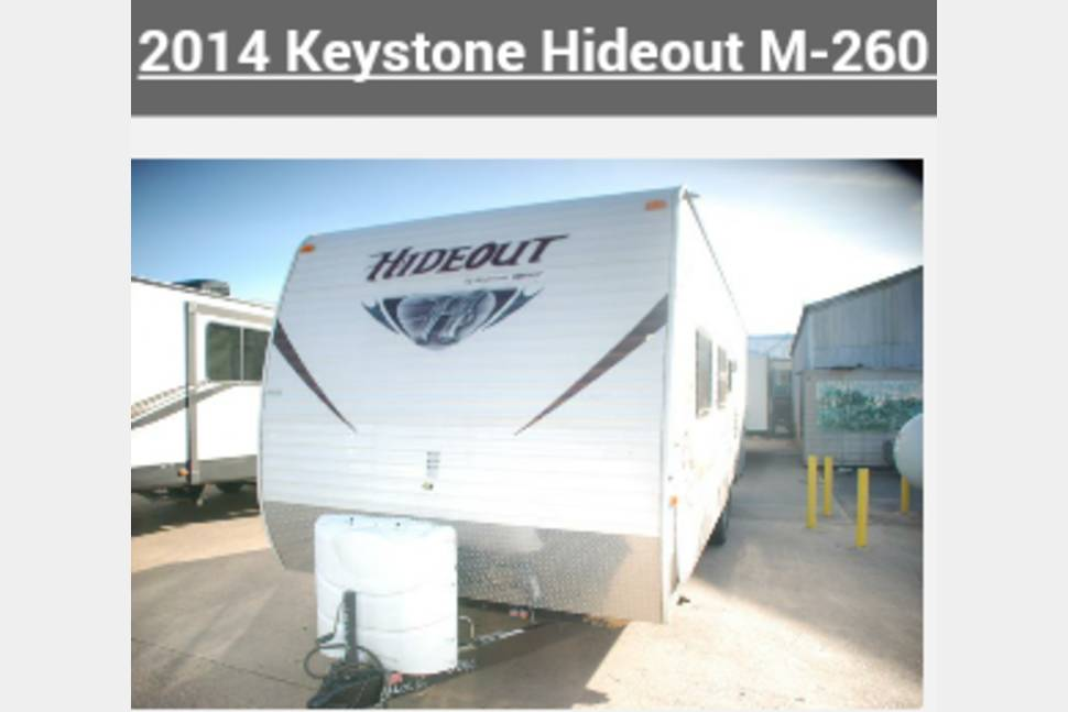 2014 Keystone/hideout - 2014 Bunkhouse with electric tongue jack and awning
