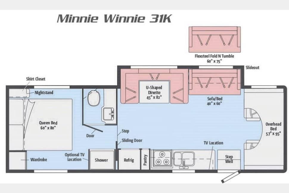 2016 Winnebago Minnie Winnie 31K - Our little Minnie