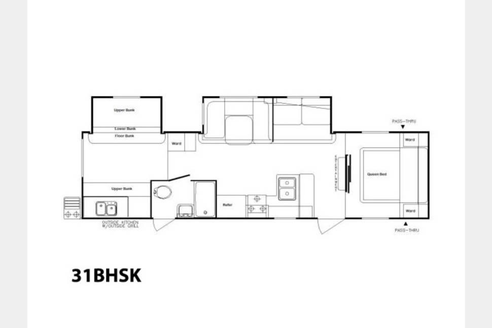 2014 2014 Riverside 31 BHSK Bunks/Outside Kitchen - The Traveler II