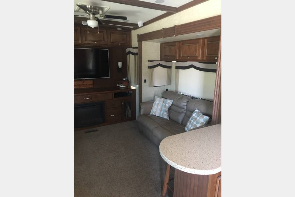 2015 Heartland Big Country 3596RE - The Donald - A taste of luxury ready for a fun weekend on the lake.