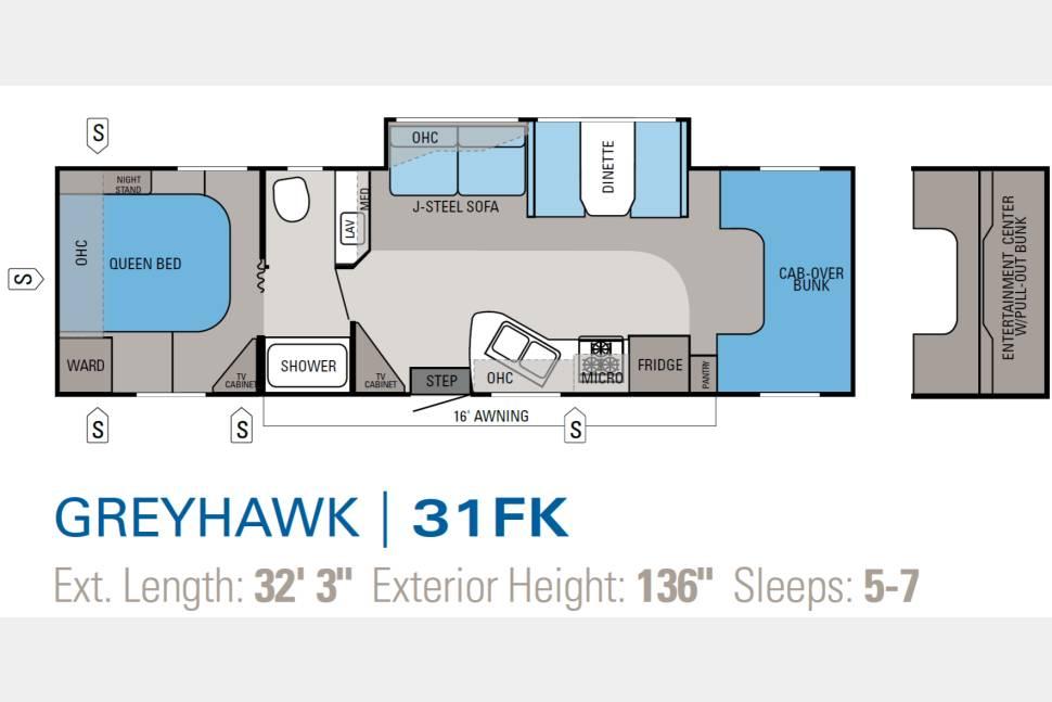 2012 Jayco Greyhawk 31FK - Jayco Greyhawk 31FK