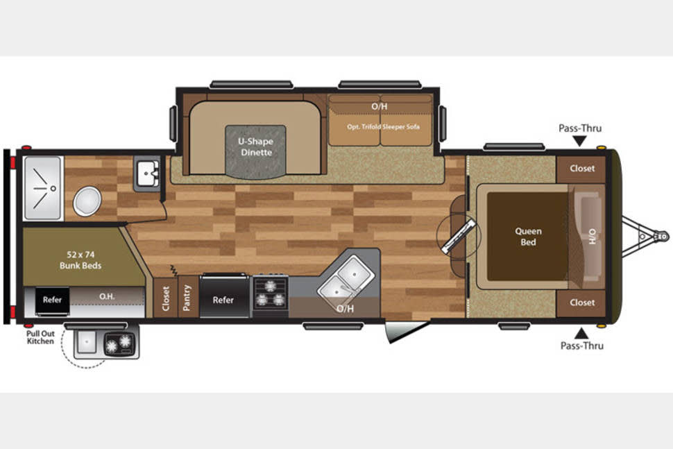 2017 27ft Keystone Hideout Luxury - Free Delivery To FT Wilderness - 2017 Luxury RV - FREE DELIVERY TO DISNEY - LOW DEPOSIT - NO INFLATED ADD ON FEES