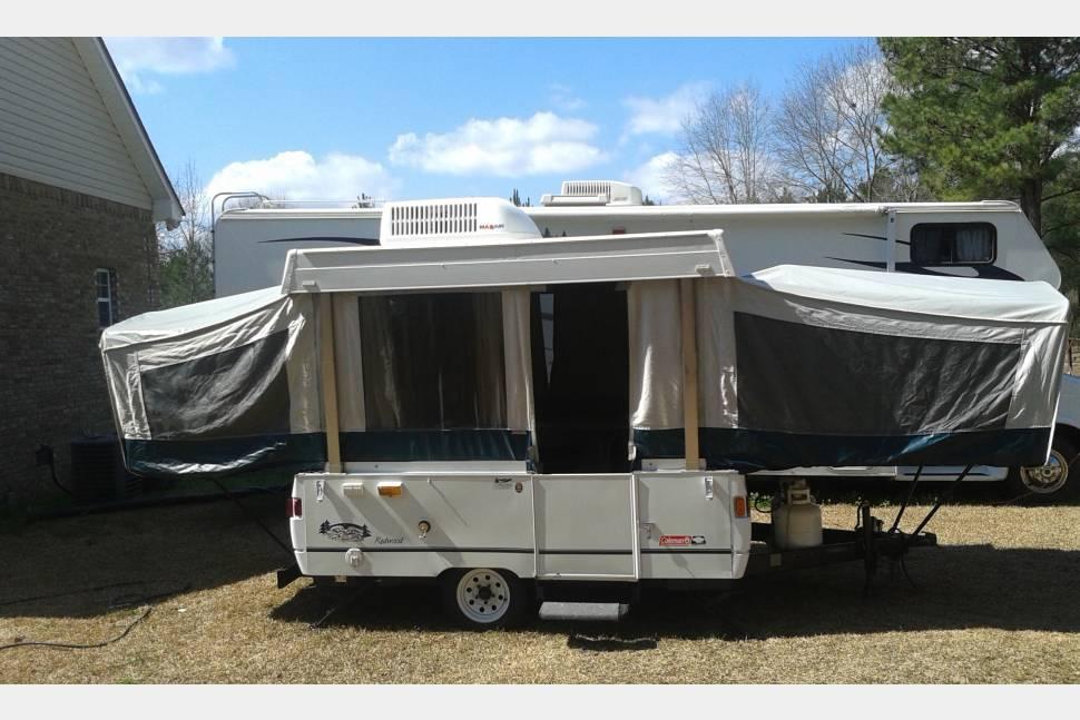 2000 Coleman Redwood 12 TL - Coleman pop-up travel camper trailer