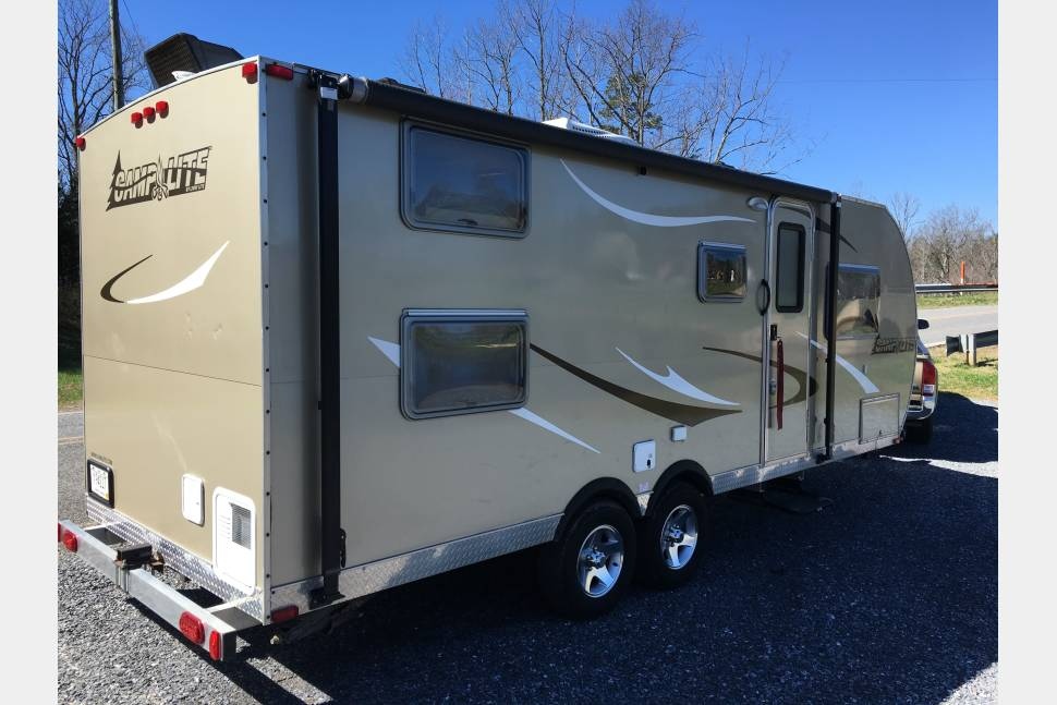 2014 LivinLite/ Camplite 21BHS - All Aluminum, Lightweight, Dual-Axle BUNKHOUSE. Ready to Camp! Veteran discounts.