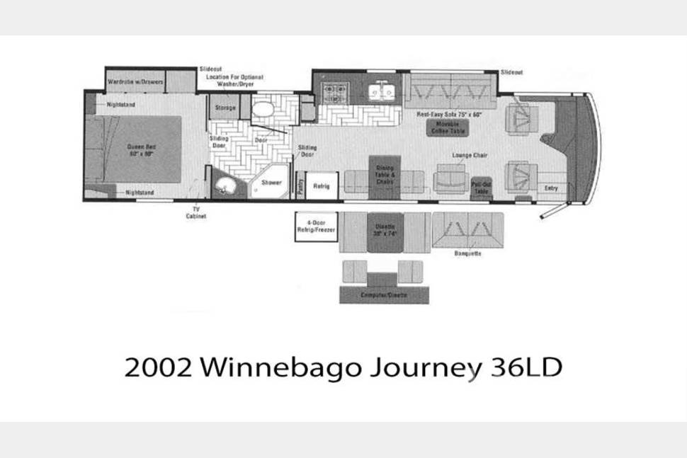 2002 Winnebago Journey 36DL - Double Slide - Our Journey machine