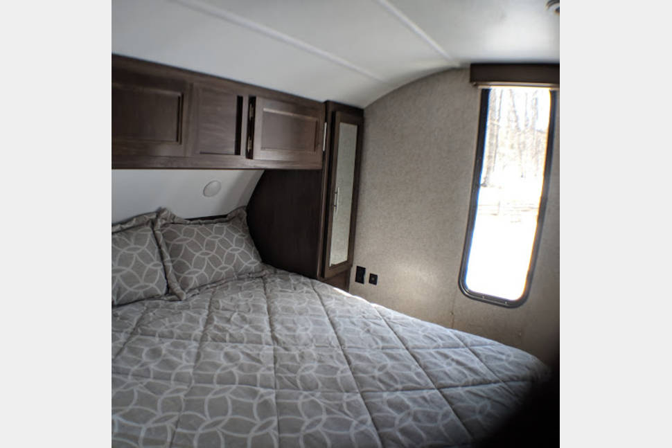 2019 Grey Wolf 26DBH - 2019 Grey Wolf 26DBH- Brand new camper delivered to your campsite in Northern Michigan.