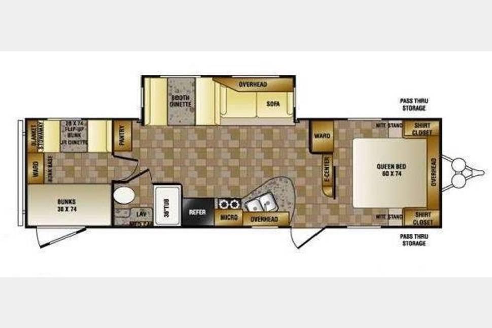 2011 Zinger 32QB - 32' Quad Bunk House
